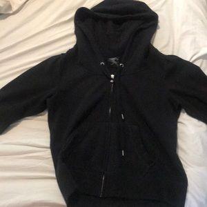 EUC super cute black express zip up
